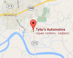 tylers automotive newberg map