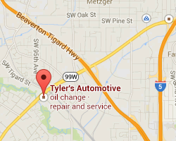 tylers automotive tigard map