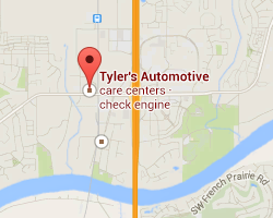 tylers automotive wilsonville map